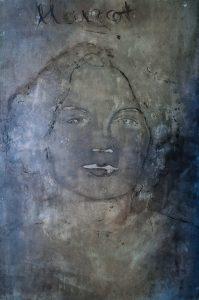"""Maleri i Helga Bostens billedserie """"Margot""""."""