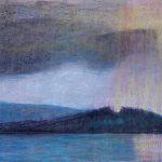 Maleri i Helga Bostens serie om bilder fra Utøya.