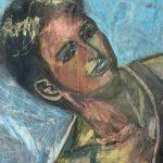 Maleri av Helga Bosten fra selvportrettserien «Selbst»